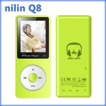 """MP3 8 GB reproductor de MP3 de reproducción de Música 80 Horas sin pérdidas 1.8 """"TFT pantalla de MP3 con altavoz FM radio grabadora de voz E-book ni'lin Q8"""