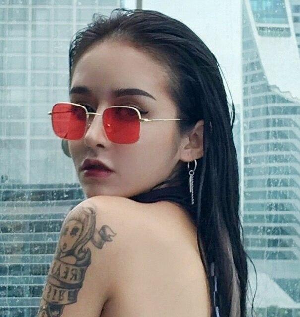 DCM Vintage Square Sunglasses Women Brand Designer Black Pink Eyewear Retro Gradient Sun Glasses Oculos UV400 2