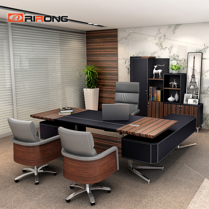 Loft Ins Small Size Personal Office Furniture Home Study Wood Executive Office Manager CEO Custom Office Table Desk Sets
