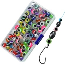 Texas Rig Beads Carolina Rigging Fishing Accessories 6mm 8mm 10mm 12mm Fish Eye Fishing Beads Bass Fishing Tackle 100 pcs green large hard rubber oval luminous fishing beads lumo glow beans sabiki snapper rig 5mm 8mm 10mm