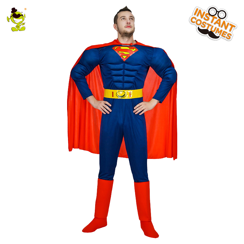 High Quality Superman American Captain Costume Adult MAN The Avengers Thor Costume for Halloween Party SuperHero Imitation Sets