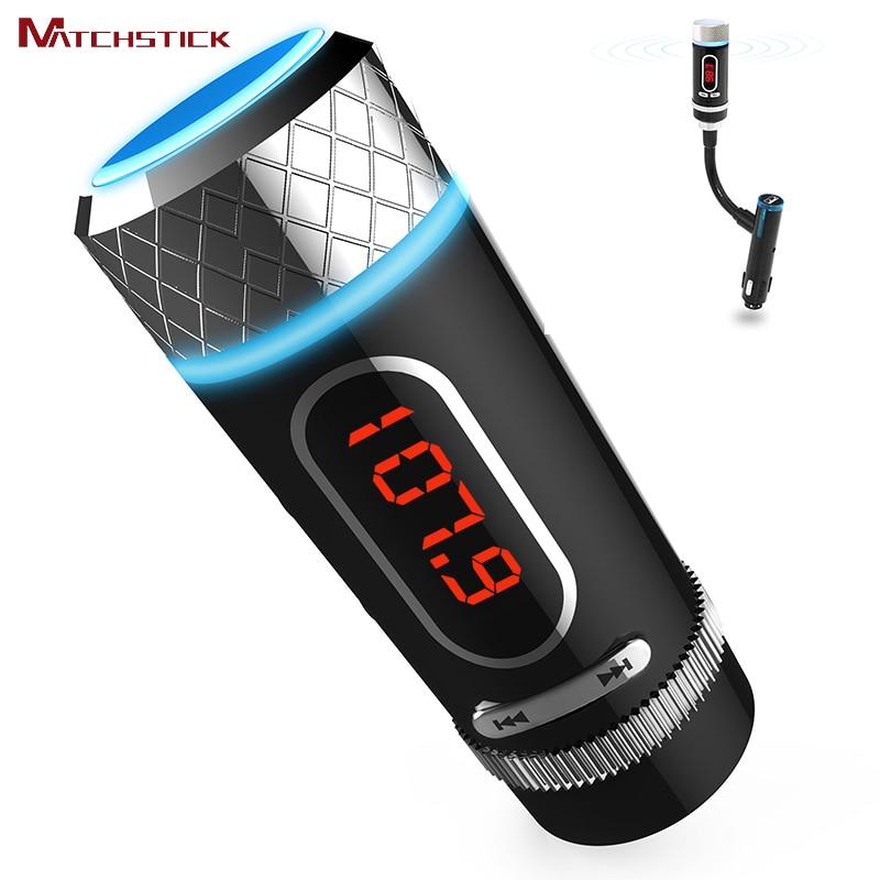 RotatableSplit type kit de voiture mains libres Bluetooth, émetteurs FM sans fil lecteur MP3 avec écran LCD, accessoires de style de voiture