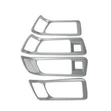 4 шт. ABS Матовая Внутренняя сторона дверные ручки чаши Крышка Накладка для Land Rover Discovery Спорт 2015-2017 подкладке автомобильные аксессуары для укладки