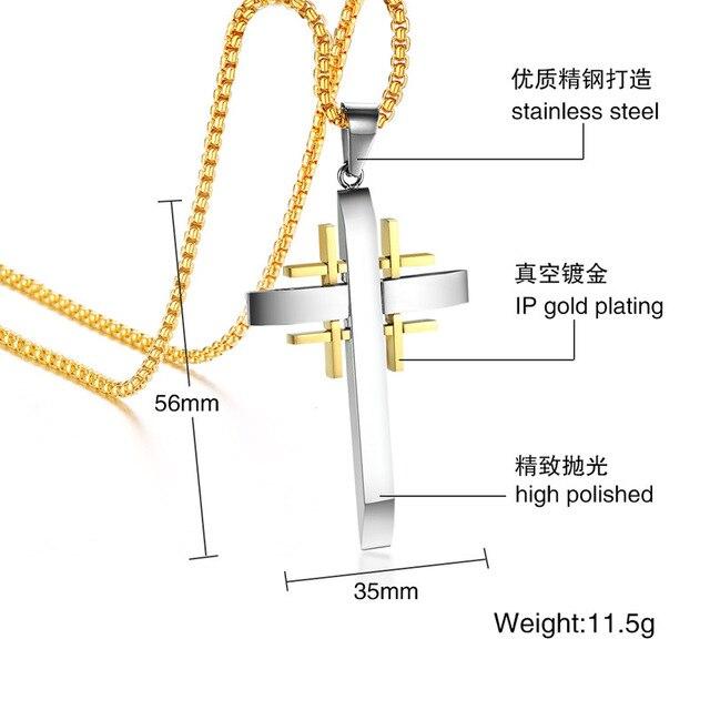 2020 модное ювелирное изделие мужское ожерелье с крестом нержавеющая