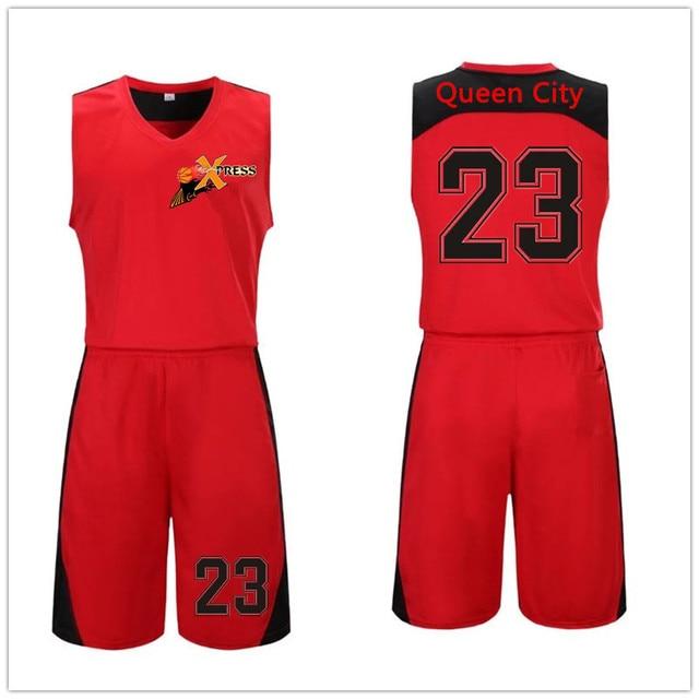 1e4b474b70 2017 Hombres camiseta de Baloncesto Reversible Establece kits de los Uniformes  Deportivos ropa de Doble cara