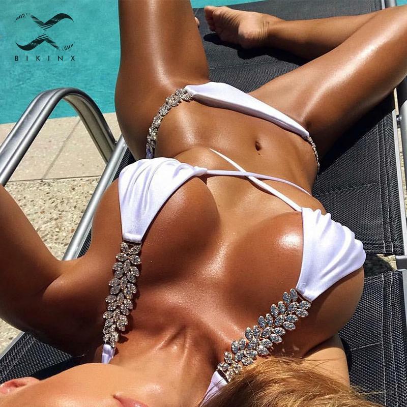 Cross Up Bikinis 2019 Mujer High Cut Swimsuit Female Bathing Suit Halter Bikini Set Micro Swimwear Women Extreme Summer Bathers