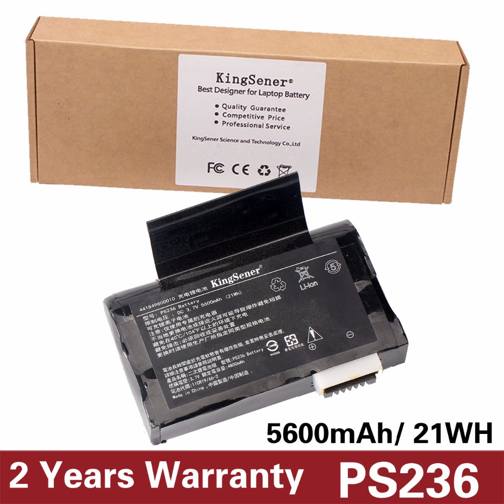 KingSener New Li-ion Battery for Getac PS236,PS336,441820900006, Getac PS236,PS336 battery 3.7V 5600mAh Free 2 Years Warranty 10 8v 8100mah kingsener new laptop battery for getac b300 b300x rugged notebook bp3s3p2900 4418144000490 free 2 years warranty