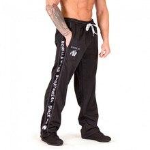 New Training Loose Pants Running Jogging Gym Pants Men  Soft Bodybuilding Joggers Sweatpants Long Trousers Fitness Sport недорого