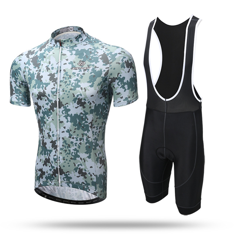 2018 Hot Sale Cycling Jersey Bib Short Sleeve Sets Summer Cycling Clothing Kits Male Breathable Camo 17XTCS-3 men 2018 cycling jersey bib short sleeve sets summer cycling clothing kits male breathable mtb mallot bike shirt top black skull