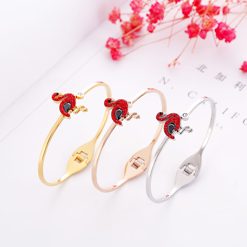 wholesale Top Quality crystal crane brand letter Fashion Jewelry Cuff Carter Bracelets Bangles titanium Steel bangle For Women