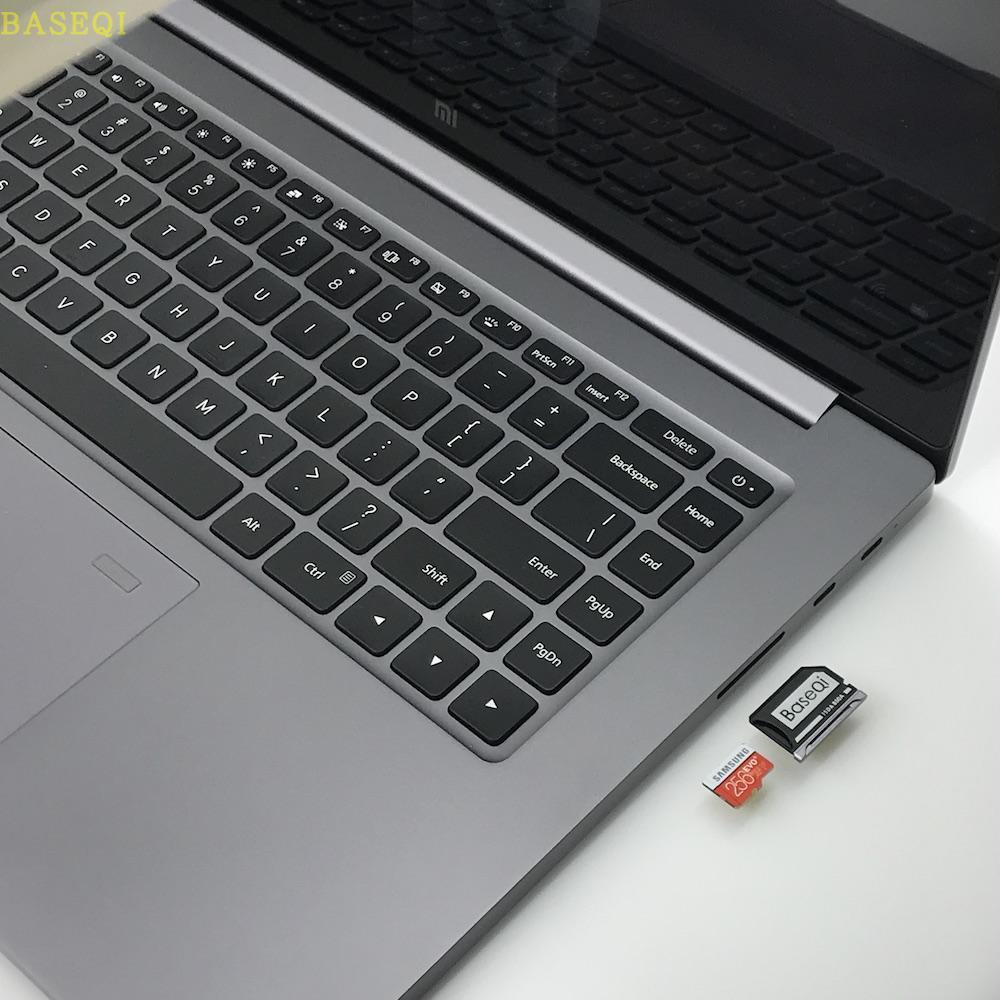 Adaptador Micro SD de aluminio BaseQi para Xiaomi Mi Notebook Pro de 15,6