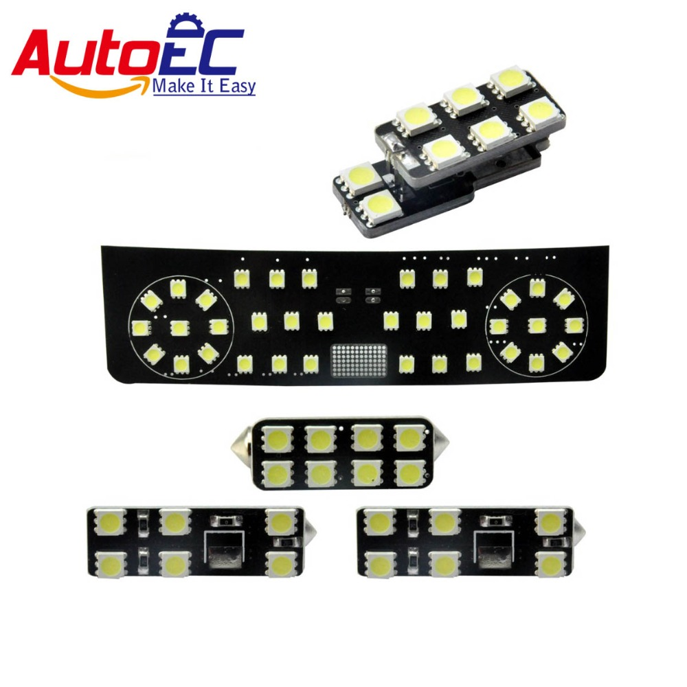 AutoEC 5pcs/set For vw Tiguan 2013 sunroof version Car Led lamp Interior panel lights Dome&Map Reading Light Lamp kit #LDK05 starpad for high quality general purpose for chery former interior dome light without the sunroof control switch wholesale