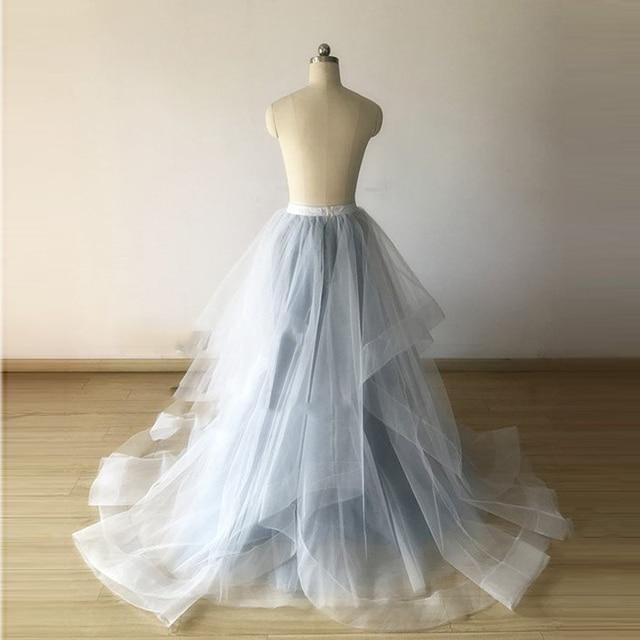 Dusty Blue Wide Double Horse Hair Trims Maxi Tulle Skirt Wedding Underskirt Ball  Gown Bridal Skirt Custom Made Faldas Saia 01c5cf502c6c