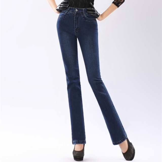 Autumn High Waist Flare Jeans Pants Plus Size Stretch Skinny Jeans ...