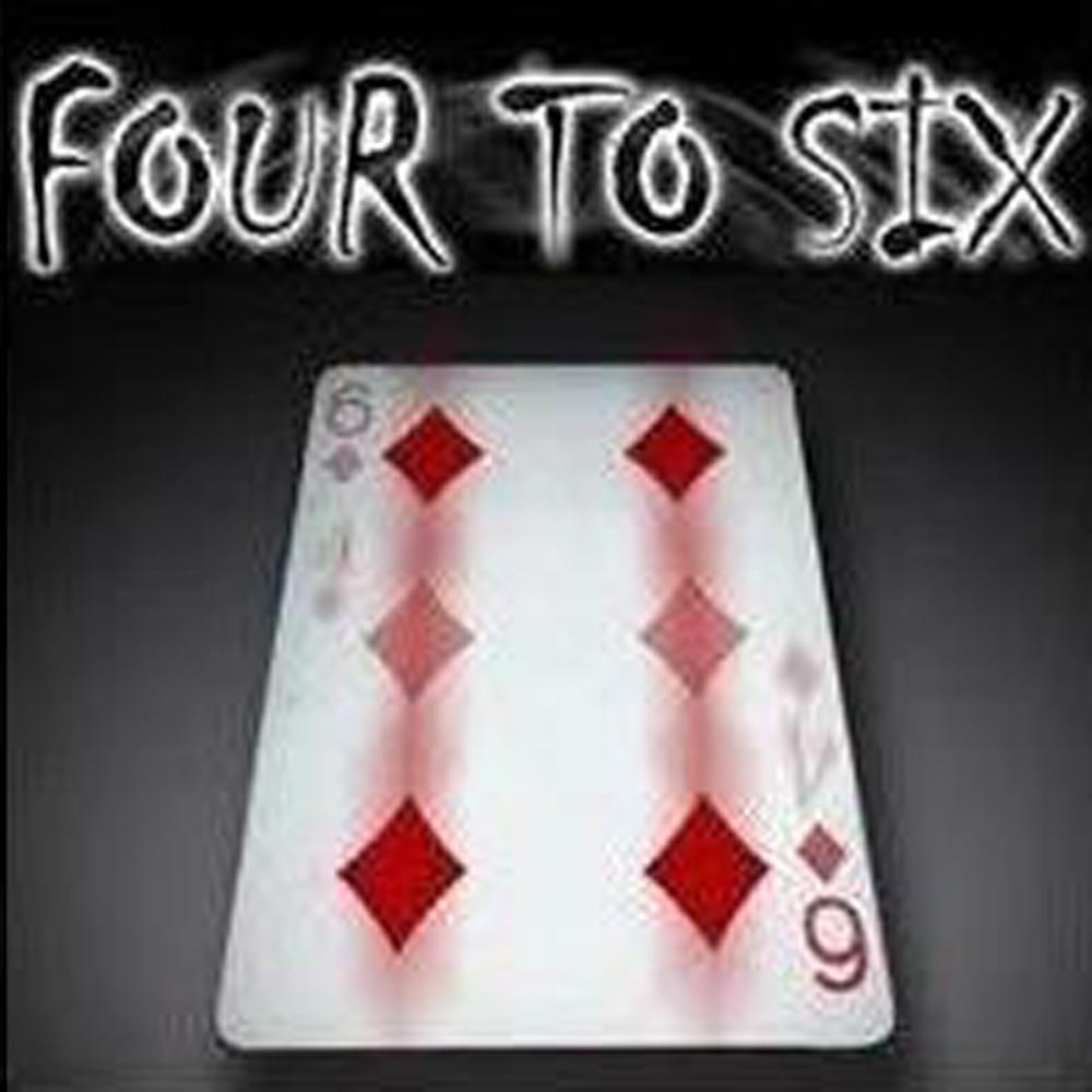 1pcs Gimmick Card Magic Tricks Fantastic 4 To 6 Moving Point Magia Professional Magician Trick Close Up Magic Tool Magic Prop