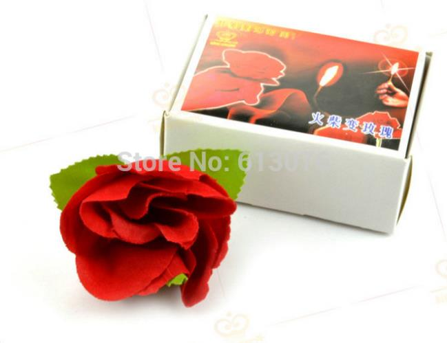 Match To Rose Magic Tricks For Magician Appearing Flower Magie Close Up Illusions Gimmick Props Comedy
