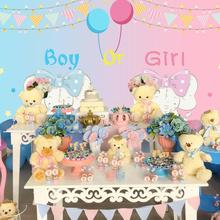 Boy or Girl Elephant Baby Shower Banner 1st Birthday Party Decoration Kids Gender Reveal Supplies Garlands Bunting F