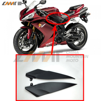 Black Tank Side Cover Panel FAIRING Trim Cowl case for YAMAHA YZF1000 R1 2007 2008 YZF R1