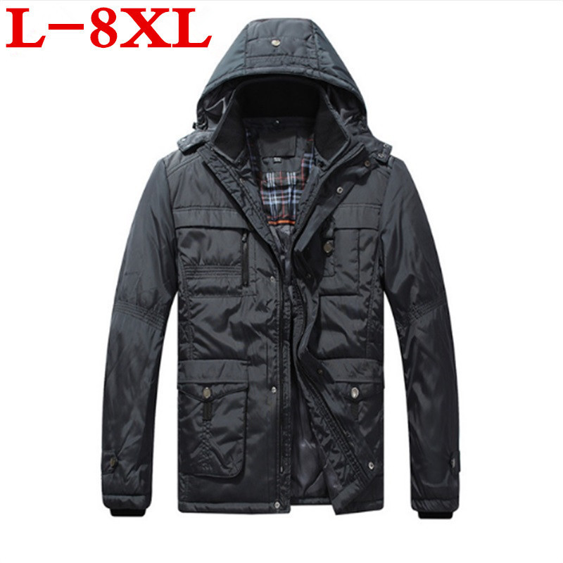 plus size 10XL 8XL 9XL 6XL 2018 Winter New Jacket Men Warm Coat Fashion Casual Parka Medium-Long Thickening Coat Men For Winter men plus size 4xl 5xl 6xl 7xl 8xl 9xl winter pant sport fleece lined softshell warm outdoor climbing snow soft shell pant