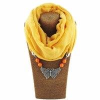 Encantos de la mariposa Chal Bufandas Del Collar Pendiente de La Joyería de boho Del Estilo 7 colores Mantienen Caliente para Damas Joyería WF45