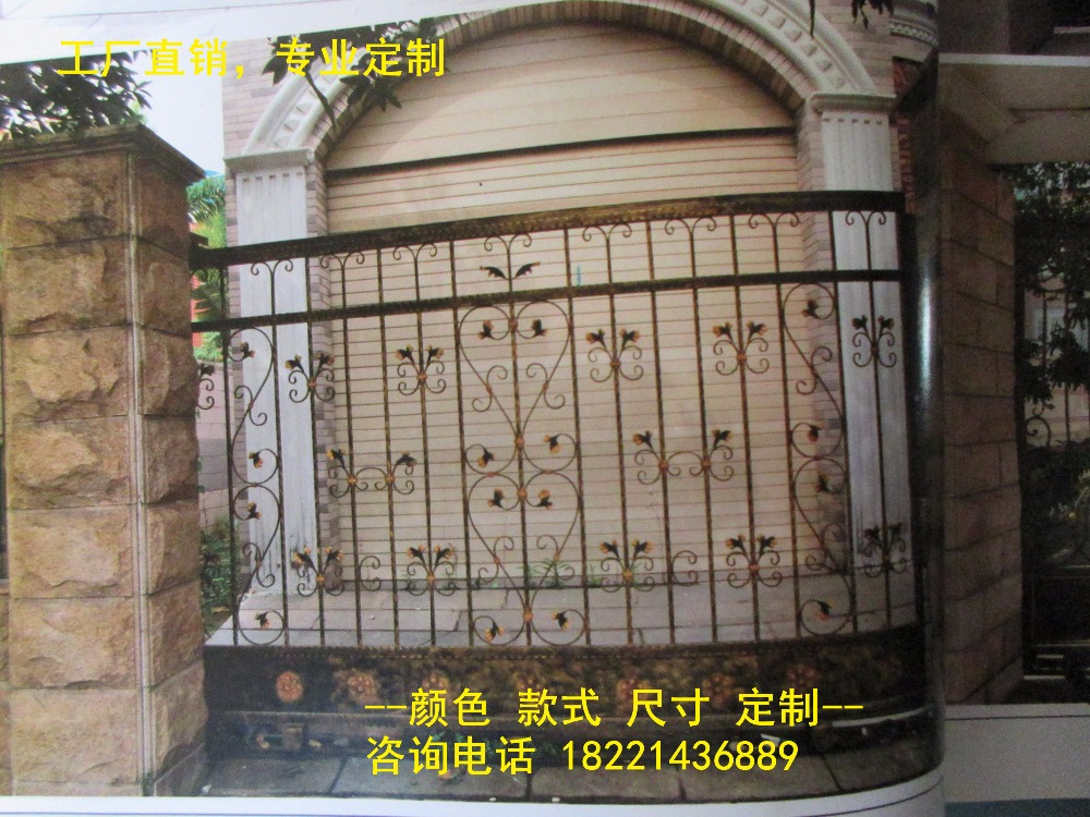 Custom Made Wrought Iron Gates Designs Whole Sale Wrought Iron Gates Metal Gates Steel Gates Hc-g93