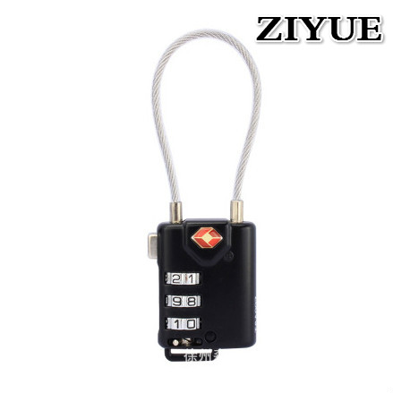 Free Shipping <font><b>TSA</b></font> Universal Mini Wire Rope <font><b>Combination</b></font> <font><b>Lock</b></font> Travel Luggage Suitcase <font><b>Lock</b></font> Padlock image