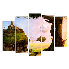 Canvas Painting Wall Art Frame Printed Pictures 5 Panel Poster Forest home Landscape Photo For Living Room Decor Free Shipping