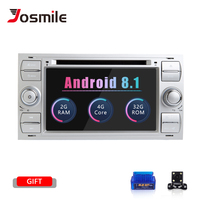 2 din Android 8.1 Car DVD Player For Ford Focus 2 Mondeo 4 Fiesta C Max S Max Fusion Transit Kuga Radio Multimedia Navigation