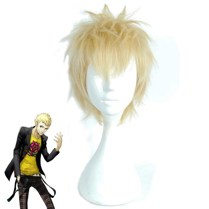 Anime Persona 5 Ryuji Sakamoto Wig Cosplay Costume Men & Women Short Synthetic Hair Halloween Party Role Play Wigs