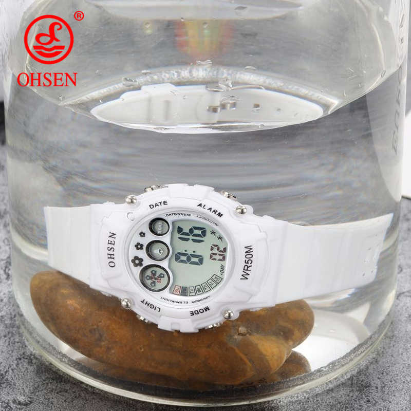 New Ohsen Unisex Watch Fashion Casual Watches Relogio Masculino Students Sports For Men Women Water Resistant Alarm Wristwatches