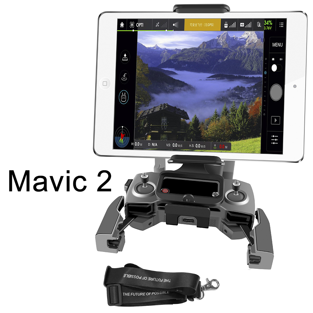 Remote Controller Tablet Holder Bracket Phone Monitor Front Holder For DJI Mavic 2 Pro Zoom Drone Transmitter Stand Accessory