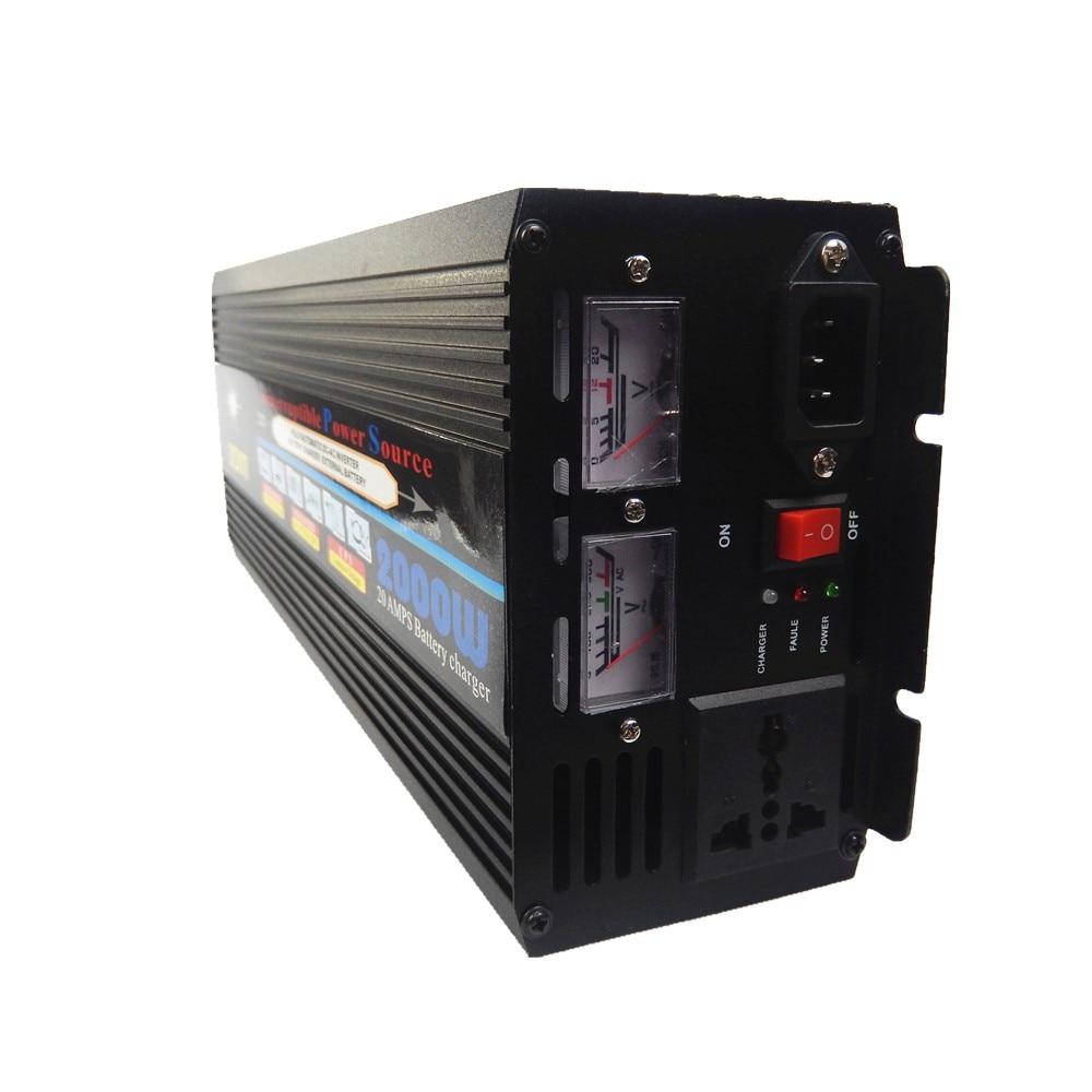 UPS 2000W DC 12V to AC 220V 50HZ Automotive Power Inverter + Charger Converter hamza el fasiki social entrepreneurship