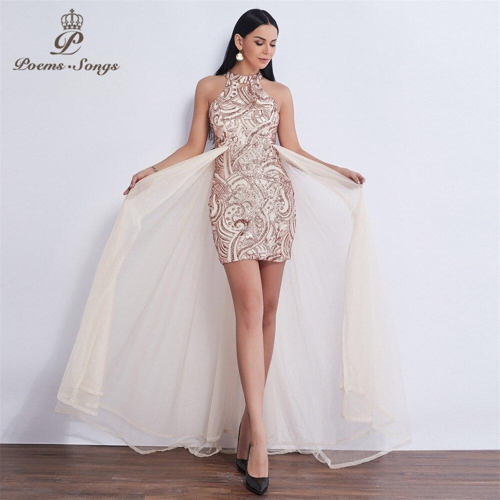 Poèmes chansons 2019 courte Sexy nouvelle fête robe de soirée robe de soirée élégante tulle robe de soirée robes de bal de noche