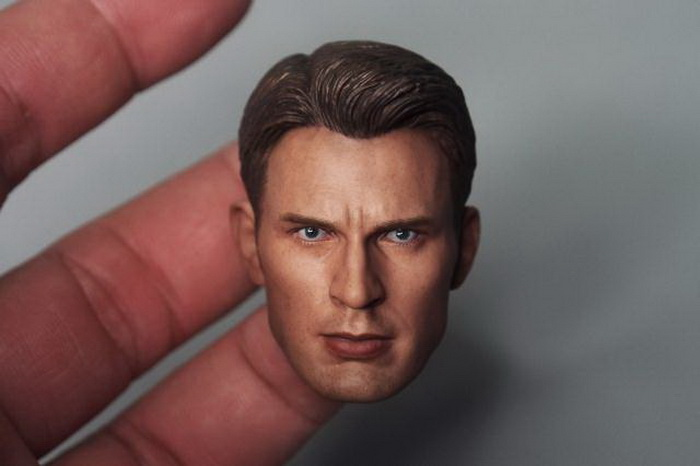Brand New 1/6 Scale Avengers: Age of Ultron Captain America Steven Rogers (Chris Evans) Head Sculpt For 12'' Action Figure Toy brand new 1 6 scale fast