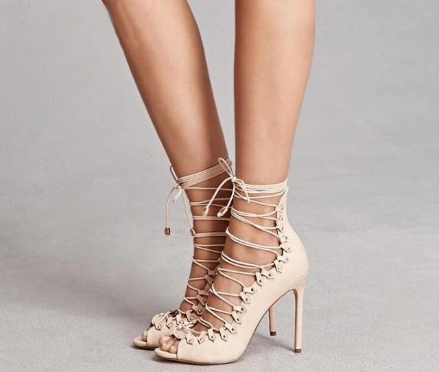 Fashion Sexy Peep Toe High Heel Summer Lace Up Sandals New Arrival Gladiator Strapped Sandal Wedding Party Dress Shoes Women 2018 summer new arrived strap design wedges women sandals peep toe comfort mid heel sexy lady sandal fashion student casual shoe