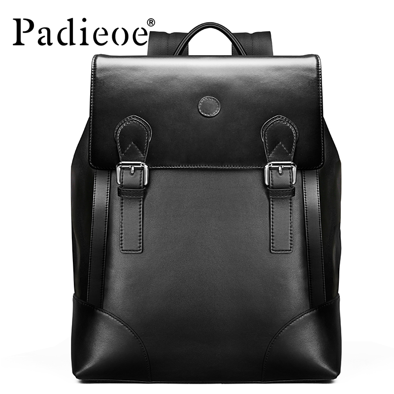 Padieoe New arrival 2016 Korean Style Men's Schoolbag High-end Genuine Leather Backpack Fashion School Male Bags Freeshipping got7 got 7 youngjae kim yugyeom autographed signed photo flight log arrival 6 inches new korean freeshipping 03 2017