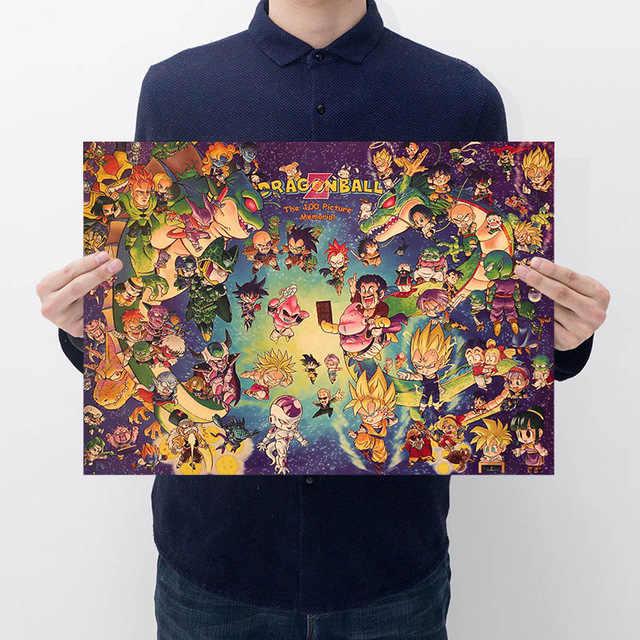 اليابان أنيمي لعبة دراغون بول z عمل الشكل المشارك غوكو Vintage ريترو كرافت طباعة ملصق بار الملصقات ديكور لعبة دراغون بول اللعب