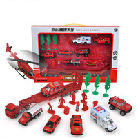 1:55 Diecast Car Model Set Alloy Car Set Toy Simulation Fire Truck Ambulance Alloy Model Toys for Children Speelgoed Auto Mobile