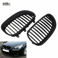 1 Pair ABS Front Black Sport Wide Kidney Grilles Grill For E60 E61 M5 5 Series 2003 2009