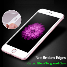 2pcs 3D Curved Edge Full Cover Tempered Glass for Iphone 6 S 6S Plus Premium Screen Protector Toughened Glass Protective Film