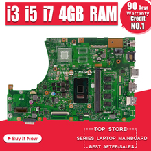 X556UAK XB._4G/I3/I5/I7CPU/AS Motherboard For Asus For Asus X556U X556UA X556UJ X556UV laptop GM Motherboard X556UJ Mainboard