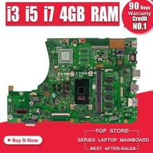 X556UAK Xb. _ 4G/I3/I5/I7CPU/Als Moederbord Voor Asus Voor Asus X556U X556UA X556UJ X556UV laptop Gm Moederbord X556UJ Moederbord