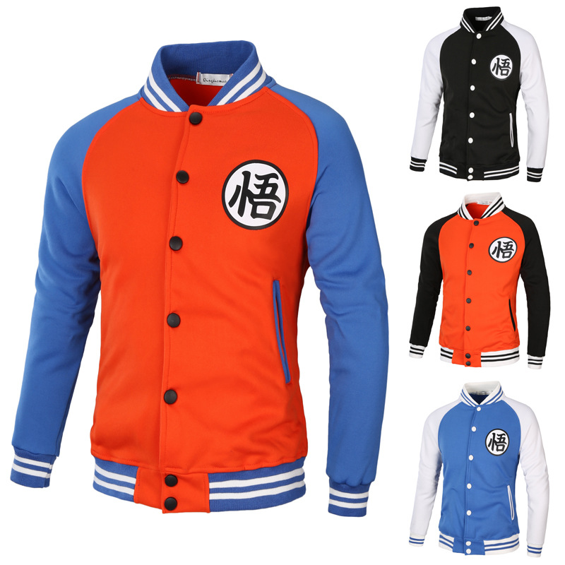 """New style of comprehension 2018 Dragon Ball """"Brand men's casual Coat Jacket Cotton Molleton Male Male Thin hip hop cospla costu"""
