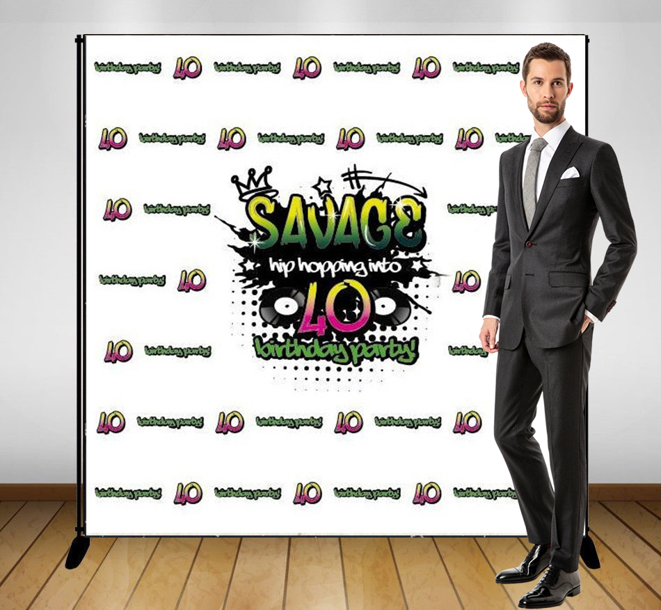 custom Hip Hop 40th Birthday Musical photo studio background  High quality Computer print party backdrops