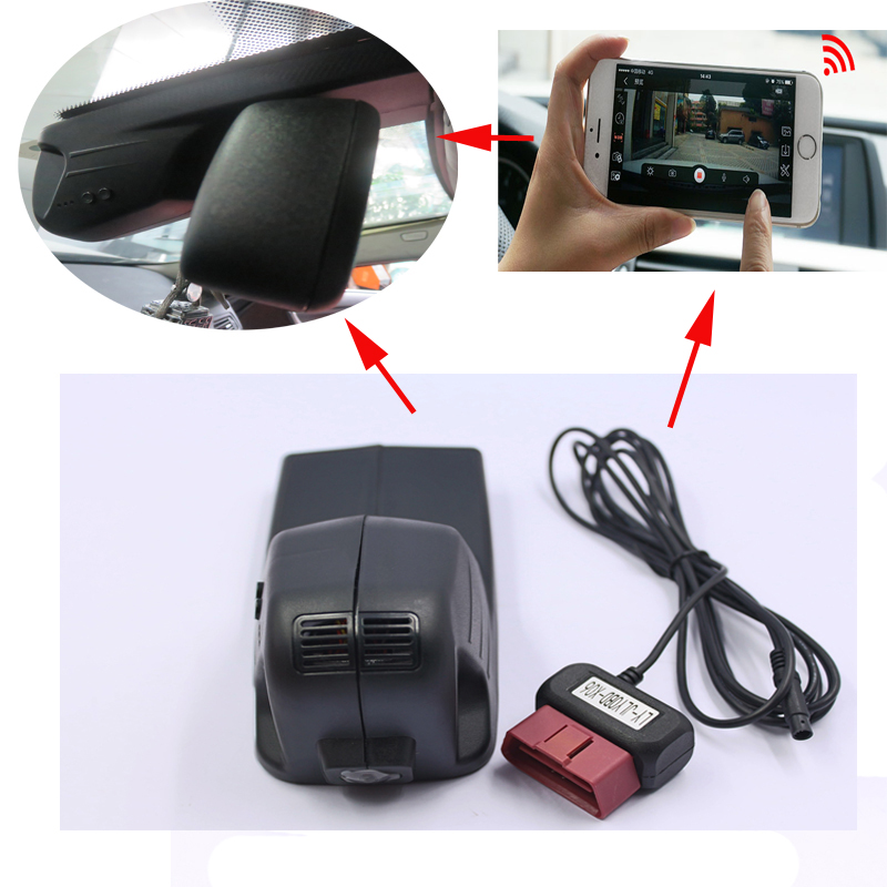 PLUSOBD Free Ship Car Video Recorder For BMW X5 F15 2015 Dash Cam 1080P Wifi H.264 Vehicle Blackbox DVR With Class10 SD Card