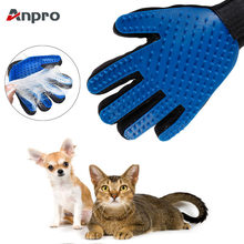 Anpro Cat Pet Grooming Deshedding Brush Gloves Effective Cleaning Back Massage Animal Bathing Fur Hair Removal Cat Dog Combs(China)