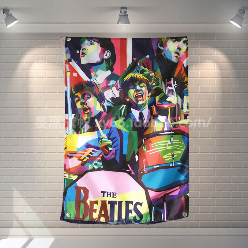 ""\""""BEATLES"""" Retro Rock Band Poster Music Banners Piano Gallery Bedroom Decor Hanging Art Waterproof Cloth Polyester Fabric Flags""810|810|?|en|2|f330f93d249ddb79552ad6004f9b748e|False|UNLIKELY|0.37848010659217834