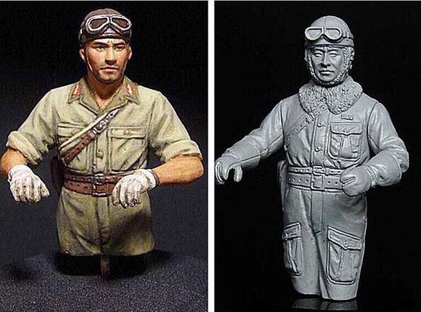 1/35 Figuras de Resina Soldados Alemães DA SEGUNDA GUERRA MUNDIAL 2 pçs/set (sem tanque)