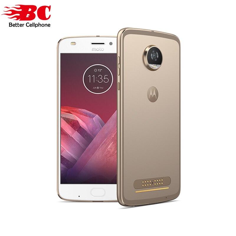 D'origine Motorola MOTO Z2 Jouer XT1710 D'empreintes Digitales Smartphone Qual-comm Octa base Android 7.1 5.5 pouce 4 gb RAM 64 gb ROM MOTO Mod