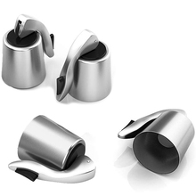 Wine Stoppers, 4 Pack Stainless Steel Saver, Reusable Bottle Preserver With Plug, Keeps Your Fresh Simply And E